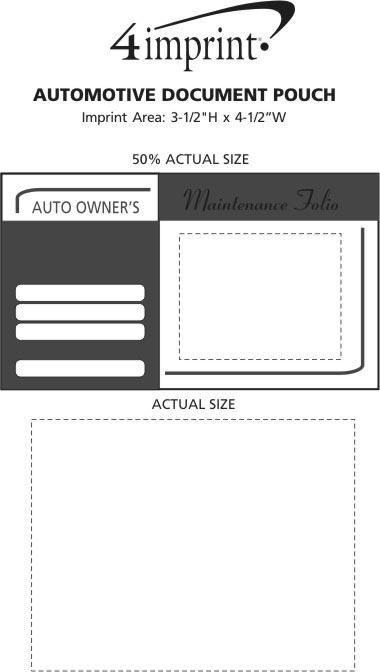Imprint Area of Automotive Document Pouch