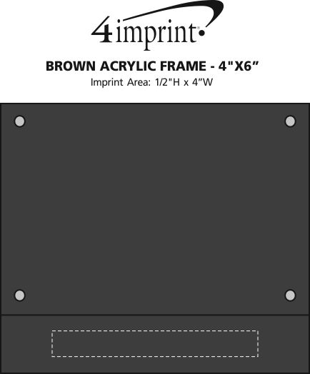 "Imprint Area of Brown Acrylic Frame - 4""x 6"""