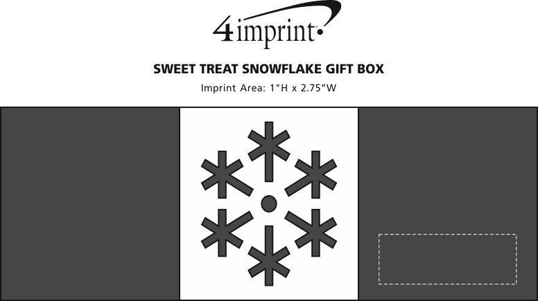 Imprint Area of Sweet Treat Snowflake Gift Box