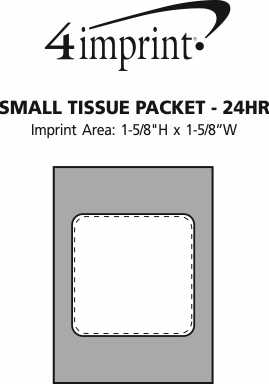 Imprint Area of Small Tissue Packet - 24 hr