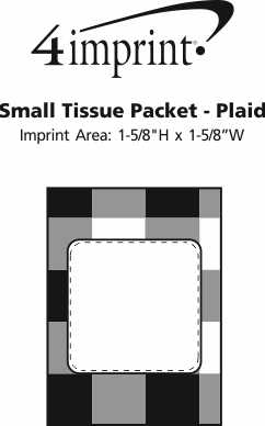 Imprint Area of Small Tissue Packet - Plaid