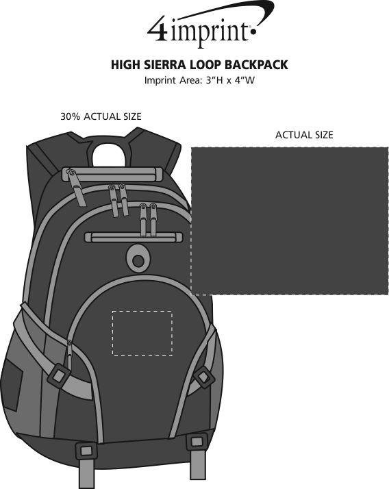 Imprint Area of High Sierra Loop Backpack