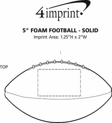 "Imprint Area of 5"" Foam Football - Solid"