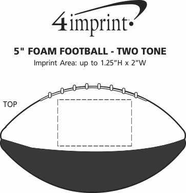"""Imprint Area of 5"""" Foam Football - Two Tone"""