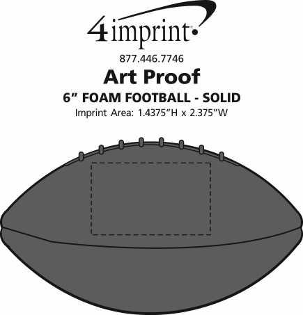"Imprint Area of 6"" Foam Football - Solid"