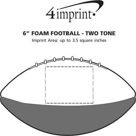 """Imprint Area of 6"""" Foam Football - Two Tone"""