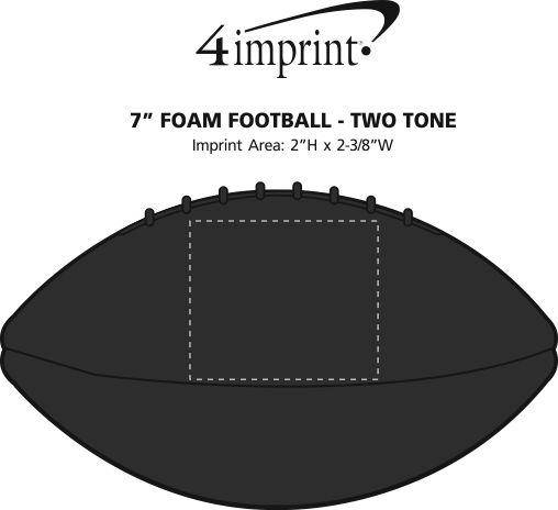 "Imprint Area of 7"" Foam Football - Solid"