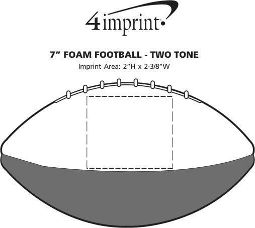 """Imprint Area of 7"""" Foam Football - Two Tone"""