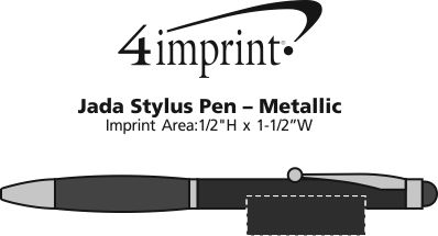 Imprint Area of Jada Stylus Twist Pen - Metallic