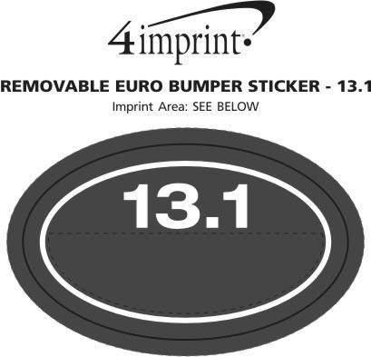 Imprint Area of Removable Euro Bumper Sticker - 13.1