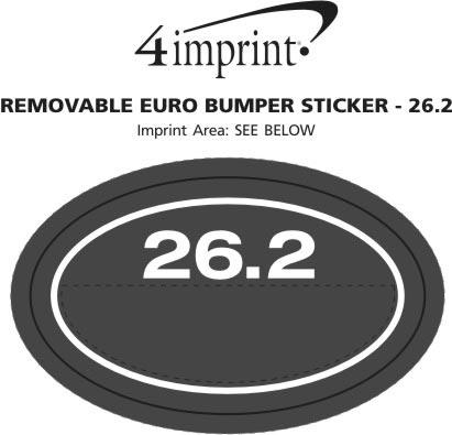 Imprint Area of Removable Euro Bumper Sticker - 26.2