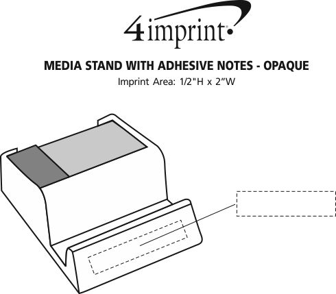Imprint Area of Media Stand with Adhesive Notes - Opaque