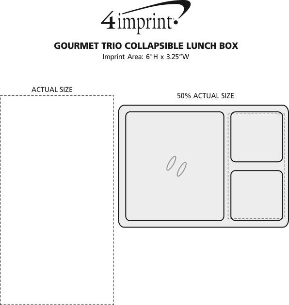 Imprint Area of Gourmet Trio Collapsible Lunch Box