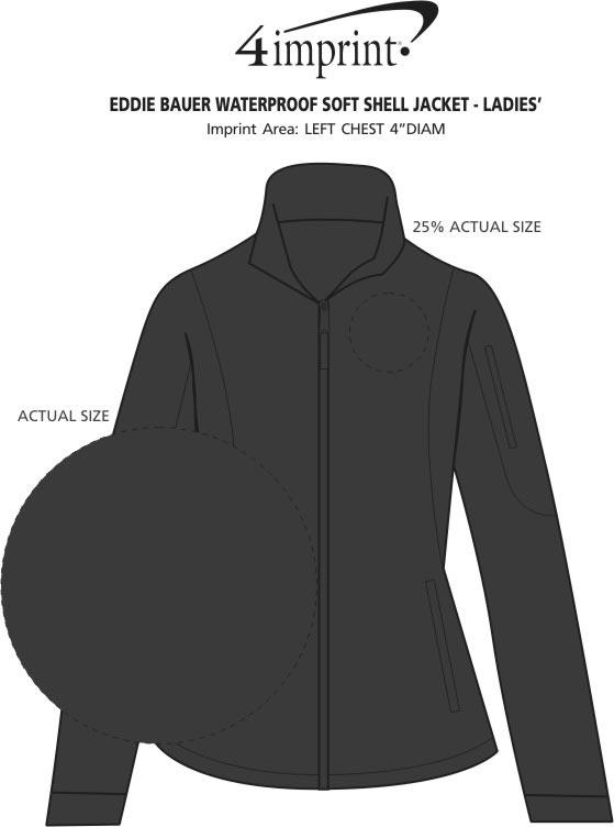 Imprint Area of Eddie Bauer Soft Shell Jacket - Ladies'