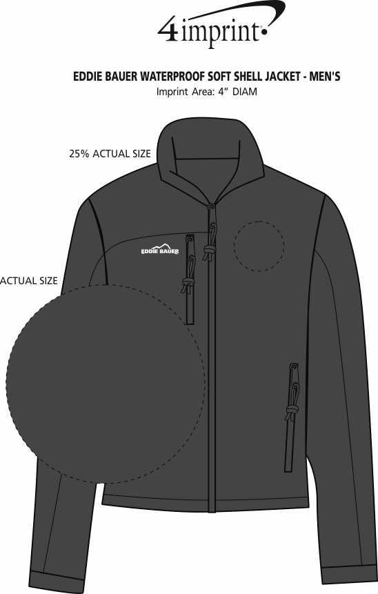 Imprint Area of Eddie Bauer Soft Shell Jacket - Men's