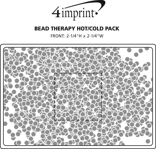 Imprint Area of Bead Therapy Hot/Cold Pack