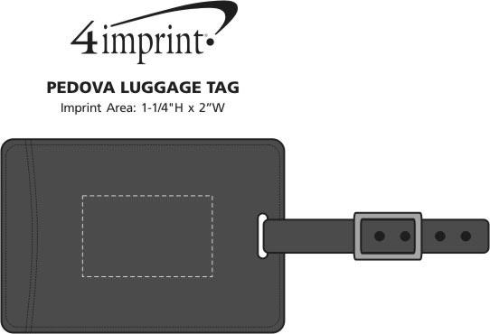 Imprint Area of Pedova Luggage Tag