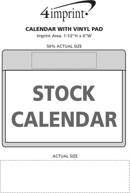 Imprint Area of Calendar with Vinyl Pad