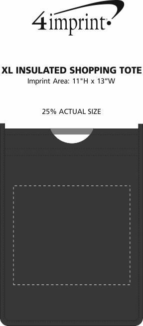 Imprint Area of XL Insulated Shopping Tote