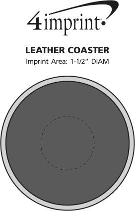 Imprint Area of Leather Coaster