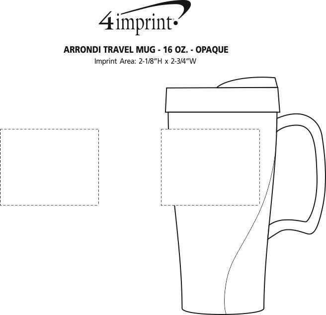 Imprint Area of Arrondi Travel Mug - 16 oz. - Opaque