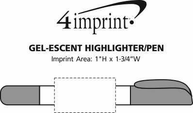 Imprint Area of Gel-Escent Highlighter/Pen