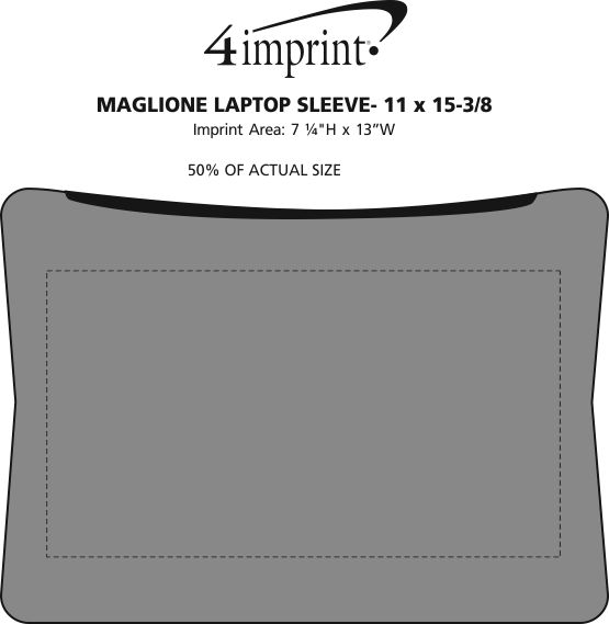 "Imprint Area of Maglione Laptop Sleeve - 11"" x 15-3/8"""