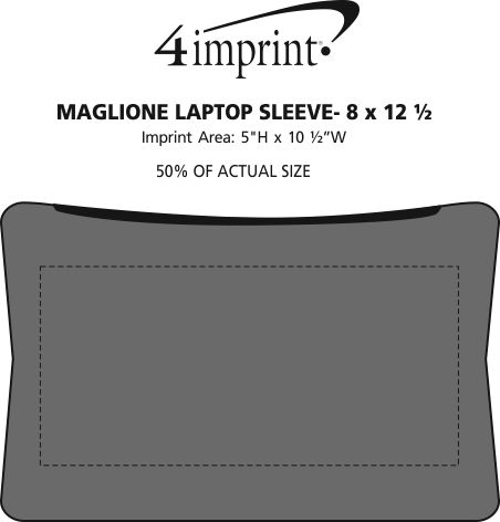 """Imprint Area of Maglione Laptop Sleeve - 8"""" x 12-1/2"""""""