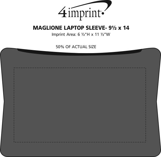"""Imprint Area of Maglione Laptop Sleeve - 9-1/2"""" x 14"""""""