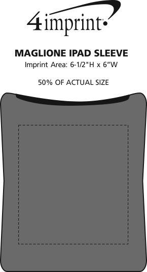 Imprint Area of Maglione iPad Sleeve