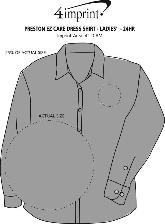 Imprint Area of Preston EZ Care Dress Shirt - Ladies' - 24 hr