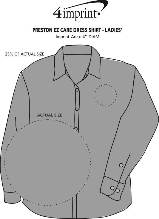 Imprint Area of Preston EZ Care Dress Shirt - Ladies'