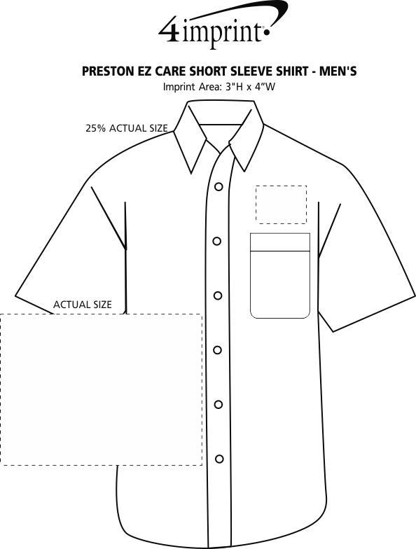 Imprint Area of Preston EZ Care Short Sleeve Shirt - Men's