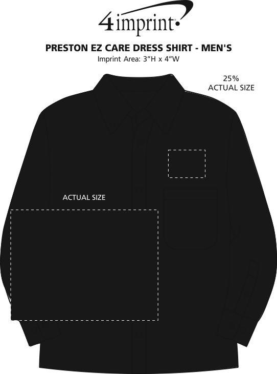 Imprint Area of Preston EZ Care Dress Shirt - Men's