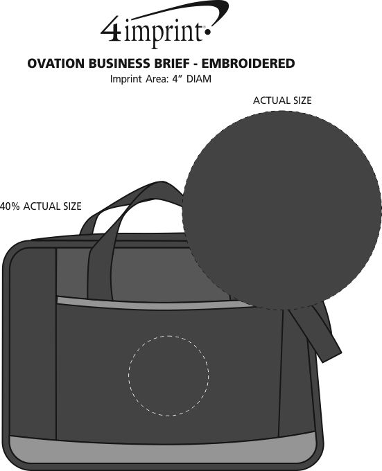 Imprint Area of Ovation Business Brief - Embroidered