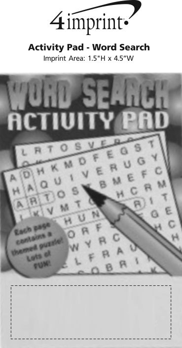 Imprint Area of Activity Pad - Word Search
