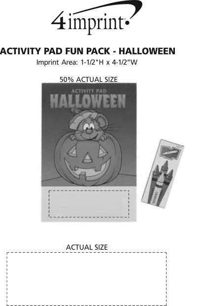 Imprint Area of Activity Pad Fun Pack - Halloween