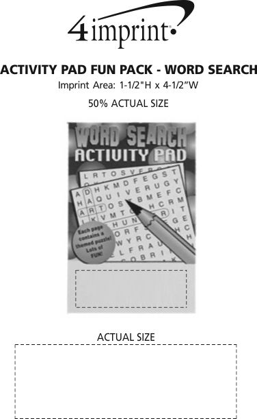 Imprint Area of Activity Pad Fun Pack - Word Search