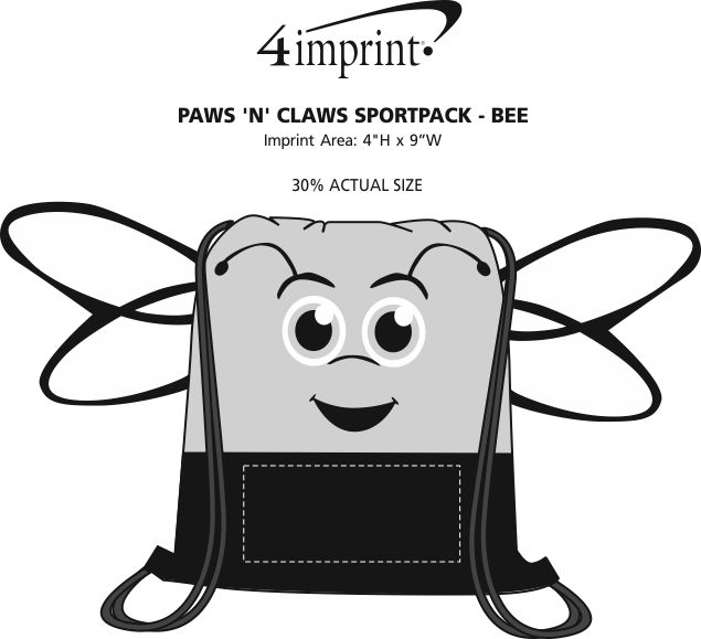Imprint Area of Paws and Claws Sportpack - Bee