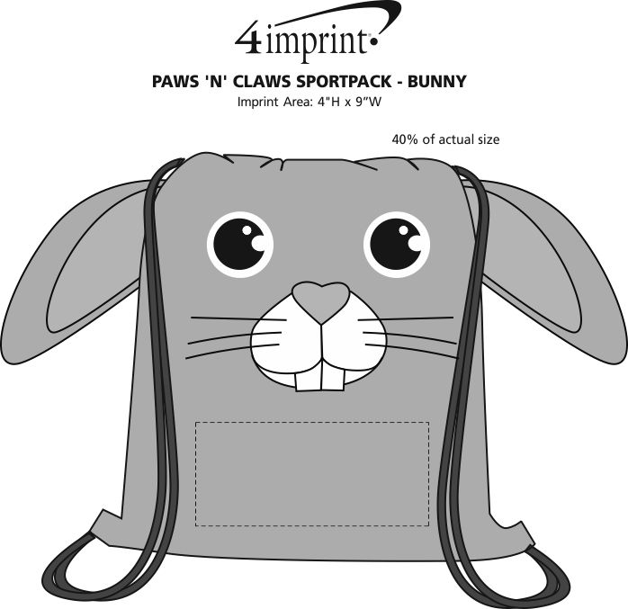Imprint Area of Paws and Claws Sportpack - Bunny