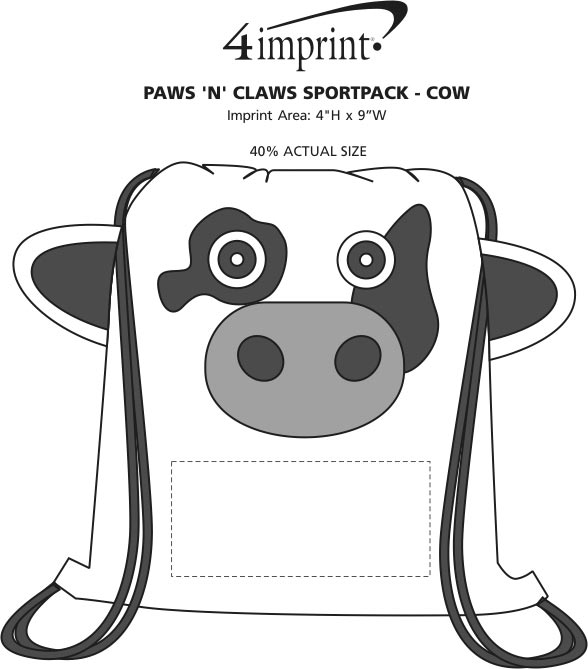 Imprint Area of Paws and Claws Sportpack - Cow