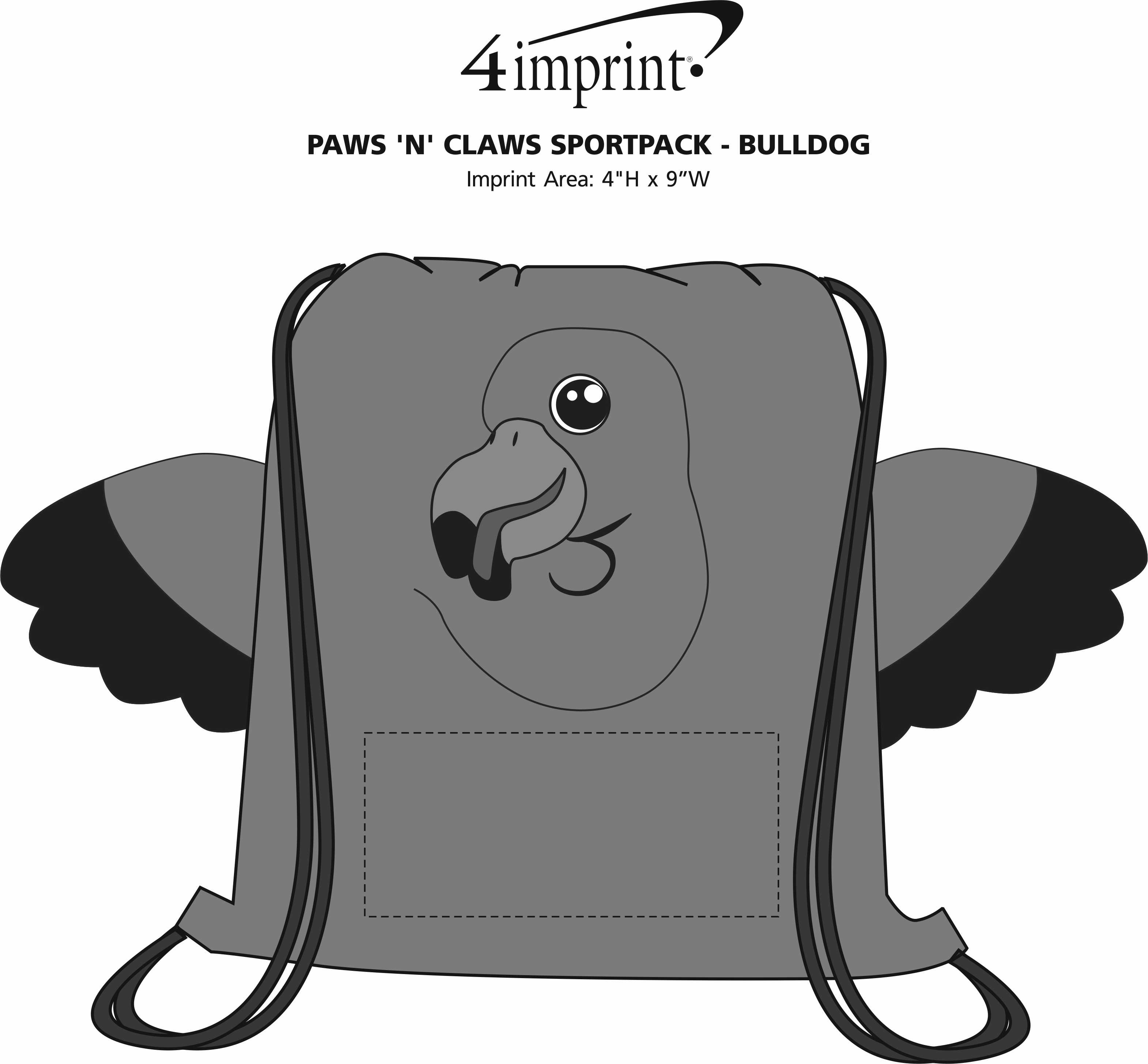 Imprint Area of Paws and Claws Sportpack - Flamingo