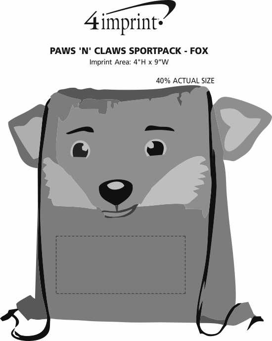 Imprint Area of Paws and Claws Sportpack - Fox