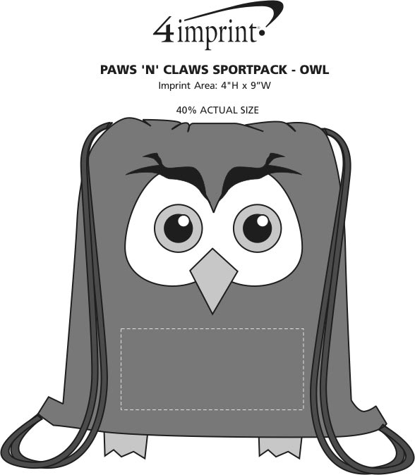 Imprint Area of Paws and Claws Sportpack - Owl