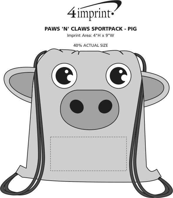 Imprint Area of Paws and Claws Sportpack - Pig