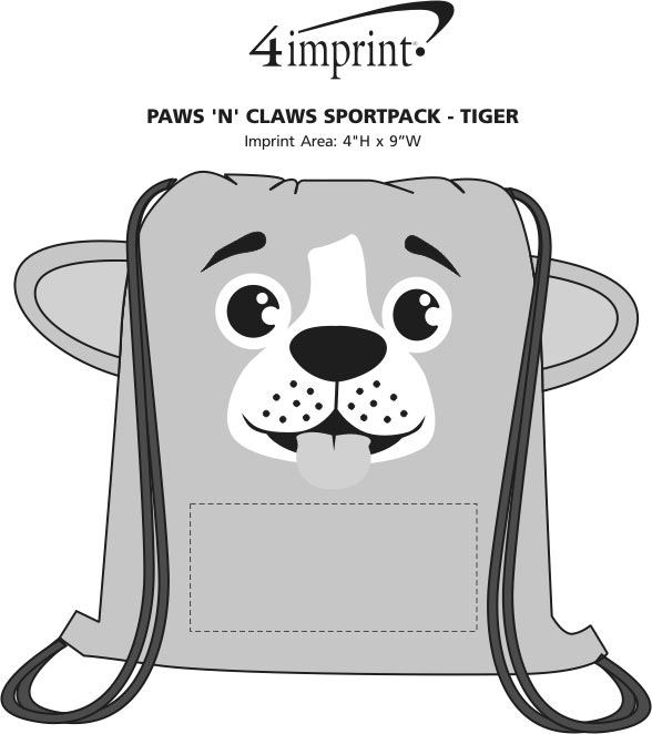 Imprint Area of Paws and Claws Sportpack - Puppy