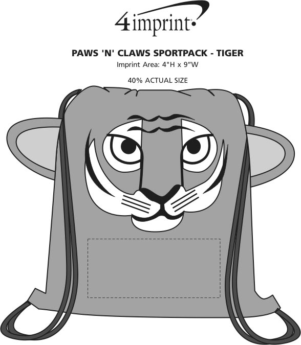 Imprint Area of Paws and Claws Sportpack - Tiger