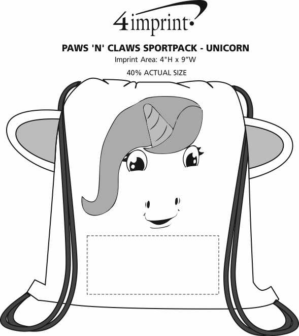 Imprint Area of Paws and Claws Sportpack - Unicorn