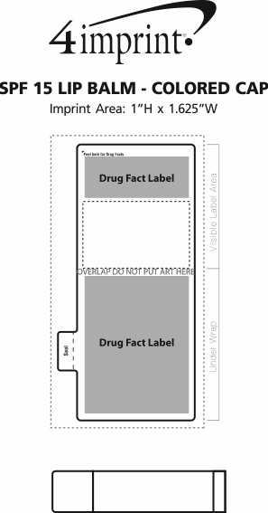 Imprint Area of SPF 15 Lip Balm - Colored Cap