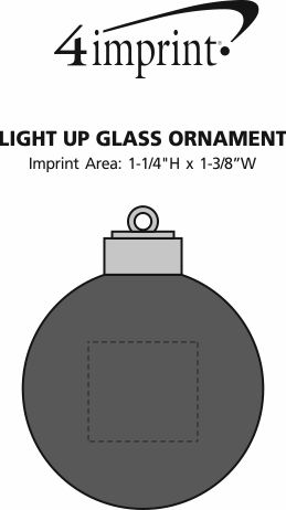 Imprint Area of Light-Up Glass Ornament